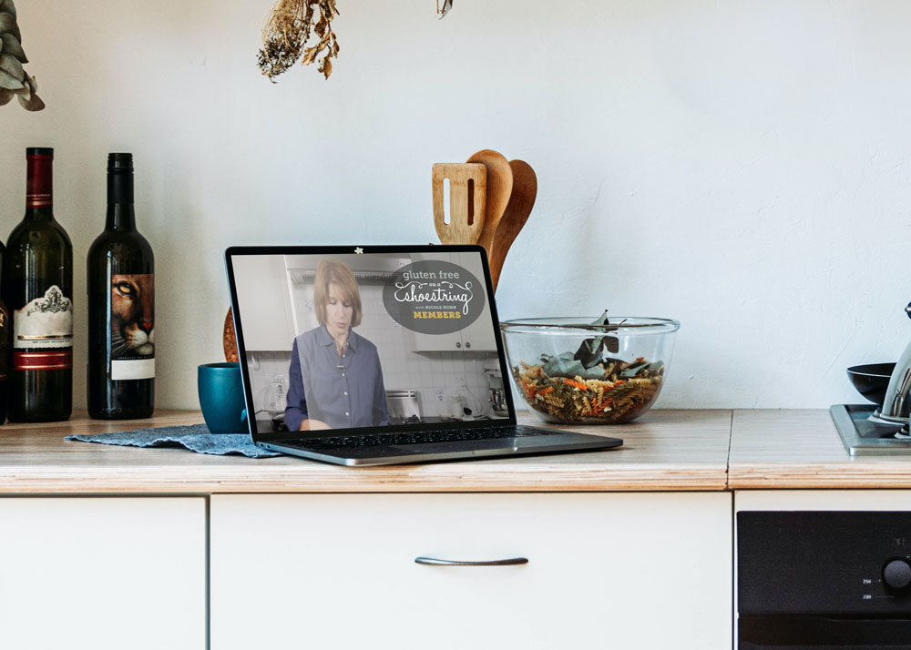 Laptop-on-counter